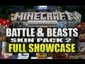 Minecraft Xbox 360 NEW Battle & Beasts Skin Pack 2 Full Showcase (ALL SKINS)