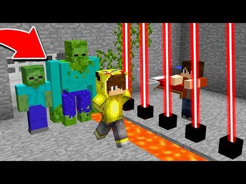 ZOMBİLER ISMETRG'Yİ HAPSE ATTI! 😱 - Minecraft