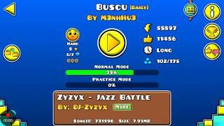 DAILY LEVEL #199 Geometry Dash 2.1 el nivel BUSCU