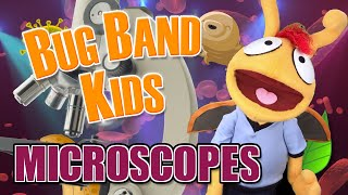 "Microscopes (Panic! At The Disco ""High Hopes"" Parody) - Learning Videos for Kids - Bug Band Kids"