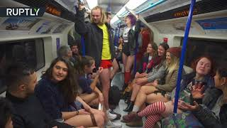 Around 300 people took their trousers off to participate in the 'No...