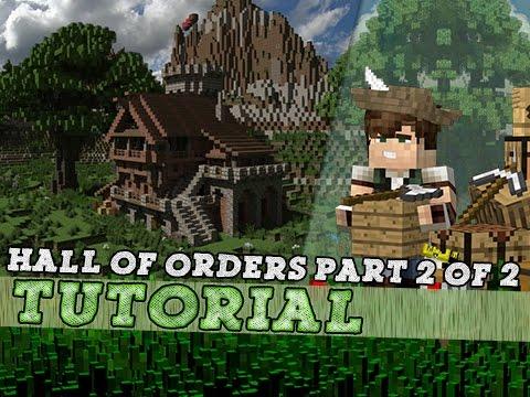 Minecraft Tutorial: Medieval Hall of Orders! Part 2/2