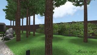 HD Визуализация реального примера ландшафтного проектирования(Участок с небольшим перепадом, главной особенностью которого являются природные сосновые насаждения,..., 2015-03-16T14:06:38.000Z)