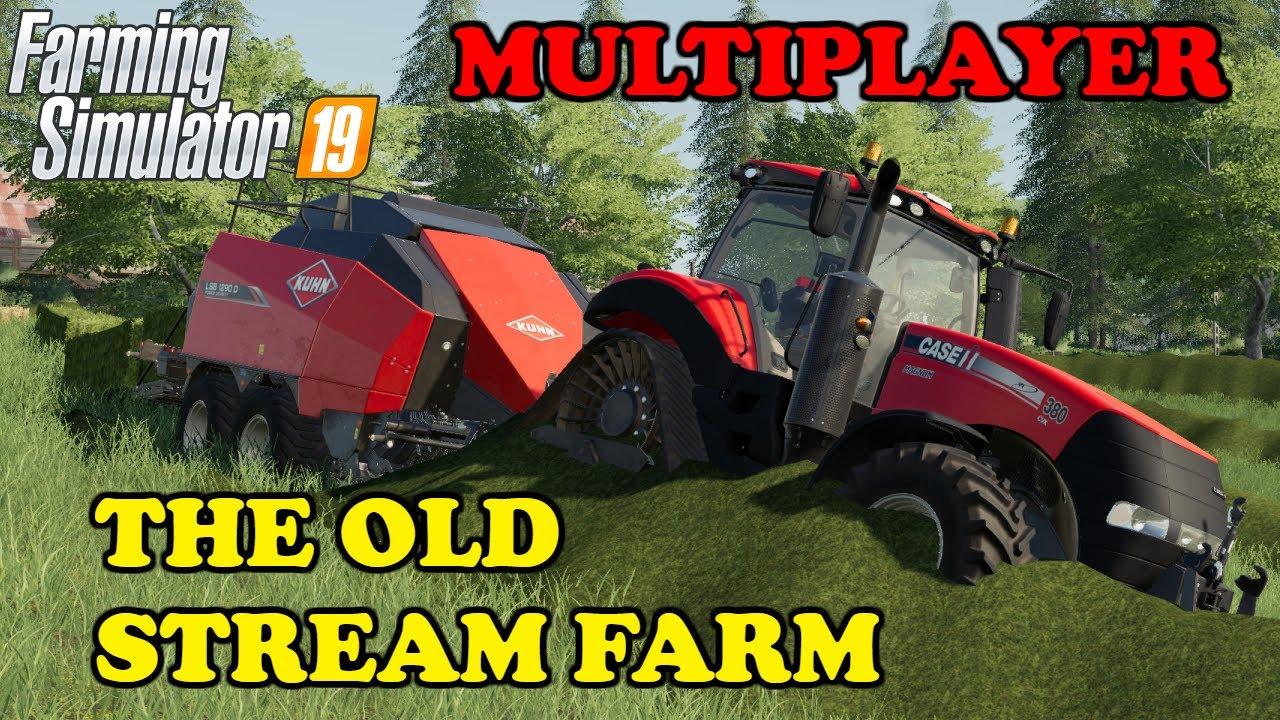 Farming Simulator 19 | Timelapse | D  Fun4all Multiplayer | The Old Stream  Farm | EP4 | HUGE SWATHS!