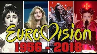 ПОБЕДИТЕЛИ ЕВРОВИДЕНИЯ С 1956 ПО 2018 ГОД // WINNERS OF EUROVISION FROM 1956 TO 2018