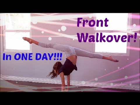 How To Do A FRONT WALKOVER In ONE DAY!!