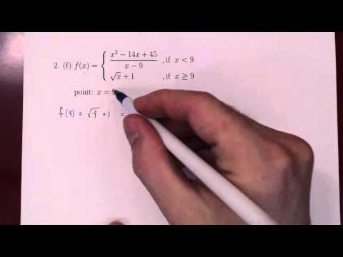 Continuity - 2 Examples