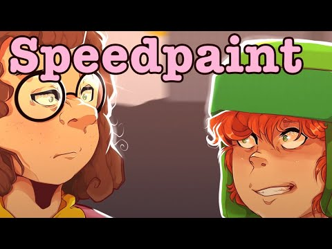 Without those glasses Speedpaint(South park) - YouTube