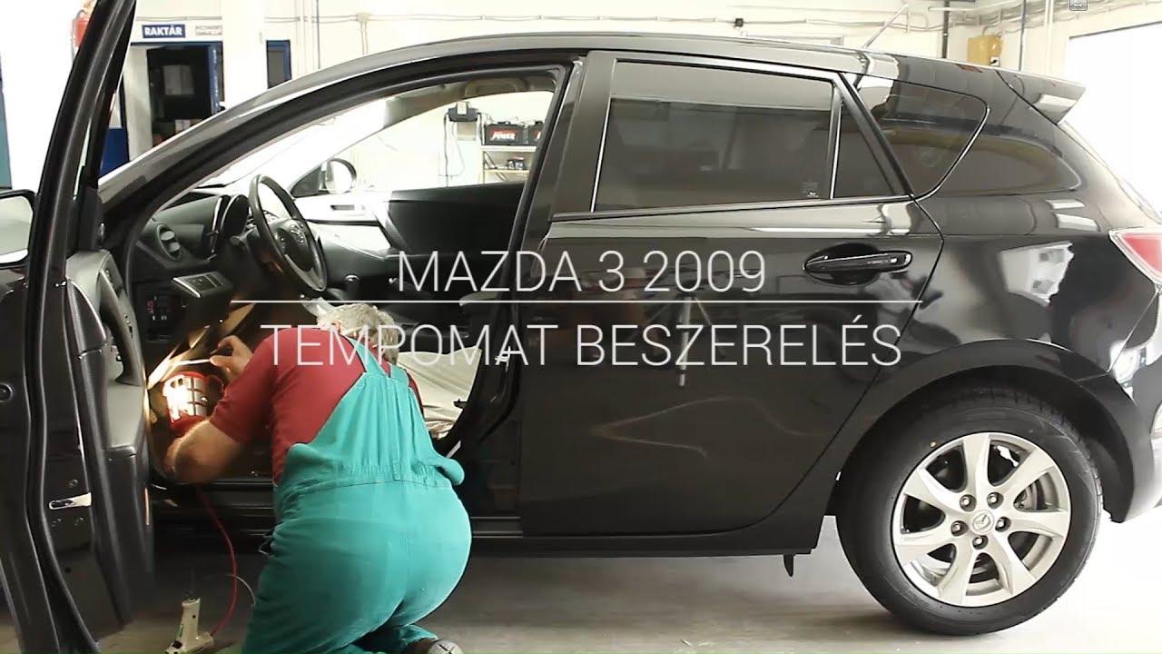 mazda 3 2009 - tempomat beszerelés - youtube