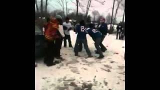 Buffalo Bills Brawl Tailgate Fight on Ice