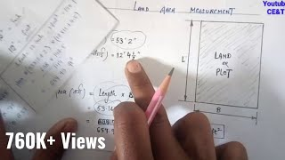 How to Calculate Land Area || Land Area in square feet || Irregular Size, Rectangular Size of Plot