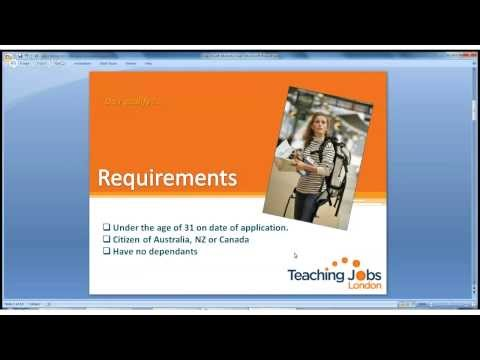 Teaching Jobs London-How to apply for a Youth Mobility Visa