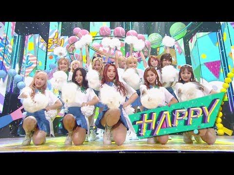 """Comeback Special"" WJSN (Cosmic Girls) (space Girl) - HAPPY @ Lagu Populer Inkigayo 20170611"