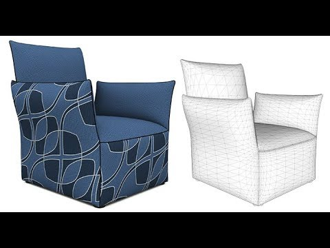 Modeling an Armchair in SketchUp with Artisan
