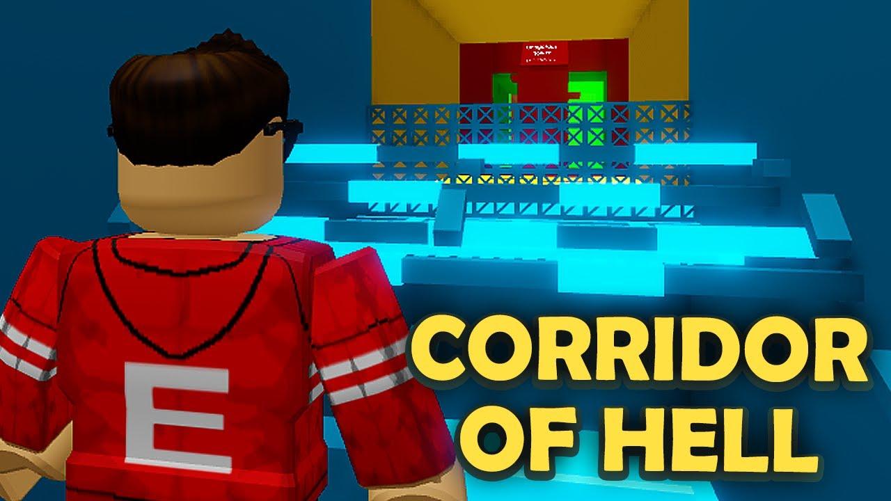 O CORREDOR MAIS DIFÍCIL DO ROBLOX - Roblox Corridor of Hell
