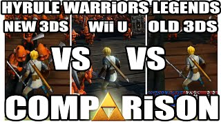 Comparison 3 0 Hyrule Warriors Legends Wiiu Vs Old 3ds Vs New 3ds Bad A I Marathon Youtube