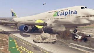 GTA 5   Trevor ROUBA UM TANQUE DE GUERRA e detona o aeroporto feito um louco !