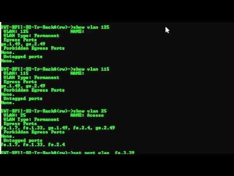 Enterasys - Colocando uma porta na VLAN