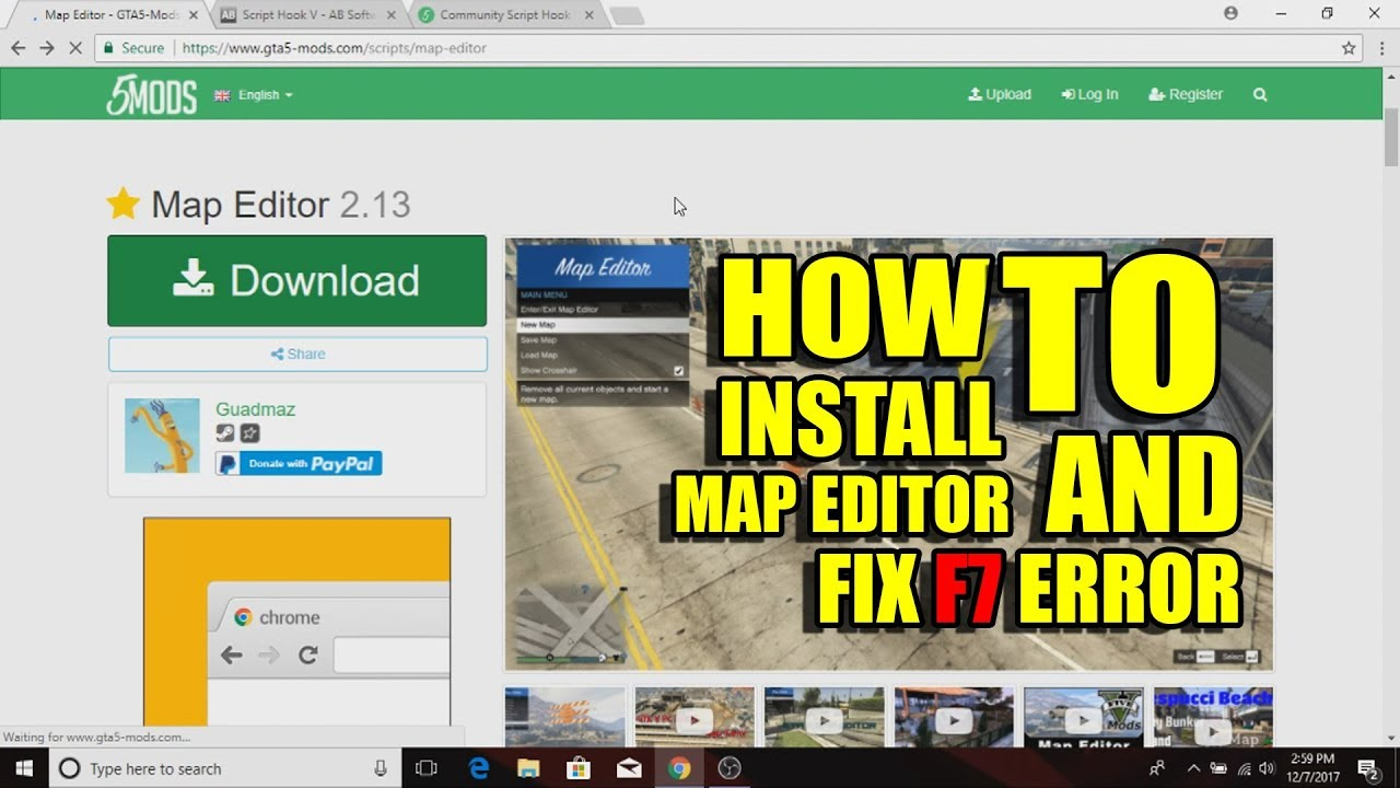 How to Install and fix the F7 error in Map Editor in GTA 5 | 2017
