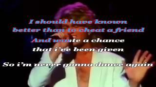 George Michael Careless Whisper karaoke+vocal