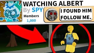 There's a Roblox group dedicated to spying on me...