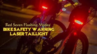 Bike Rear Fender Night Light Safety Warning Bicycle Red Tail Light Cycle Lamp