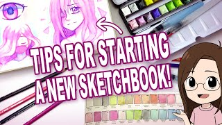 Starting a NEW Sketchbook! | Tips | Testing Arteza Art Supplies!
