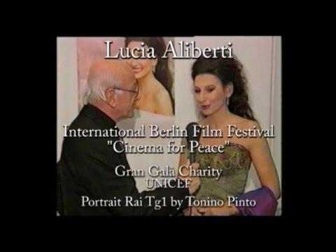 """LUCIA ALIBERTI, Guest Star Berlin Film Festival """"Cinema for Peace"""", PORTRAIT RAI TG1 by Tonino Pinto"""