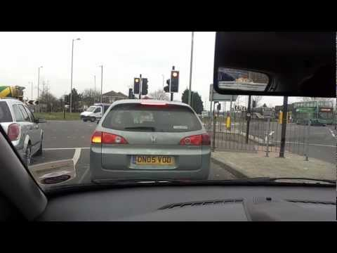 1 Oxford Driver Training Headington Roundabout Right Turn 4th exit off