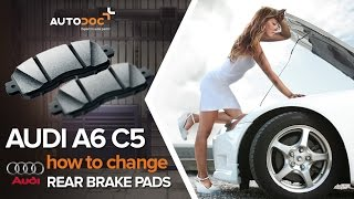 Remove Brake pad set AUDI - video tutorial