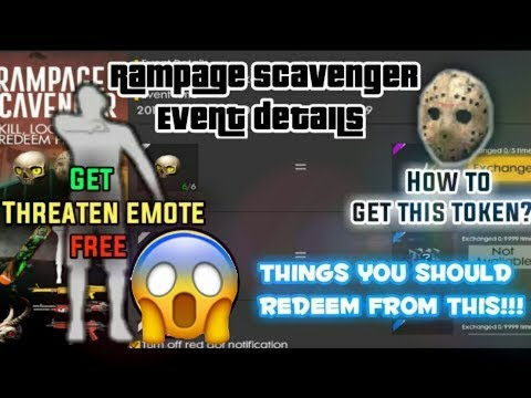 How To Collect Rampage Tokens In FREEFIRE 🔥 ? + FREE EMOTE , FREE SURFBOARD , FREE WEAPON SKIN 🔥🔥