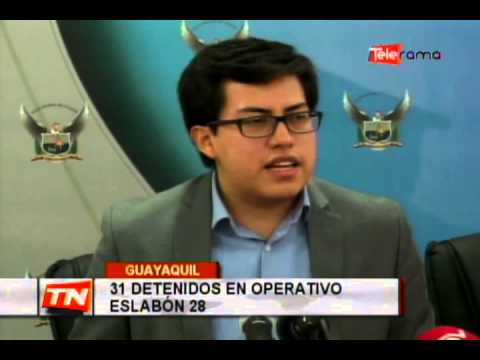 31 detenidos en operativo Eslabón 28