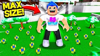 I Spent ALL MY ROBUX To Become The #1 BIGGEST PLAYER In GIANT SIMULATOR!! (Roblox)