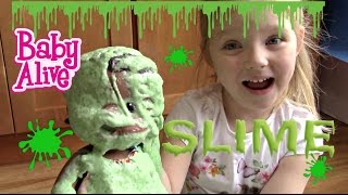 BABY ALIVE makes SLIME! The Lilly and Mommy Show! Slime recipe video. Baby Alive toy play!