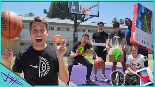 MAKE THE BASKETBALL SHOT, WIN THE MYSTERY BOX! *I'll Buy You Anything Challenge*