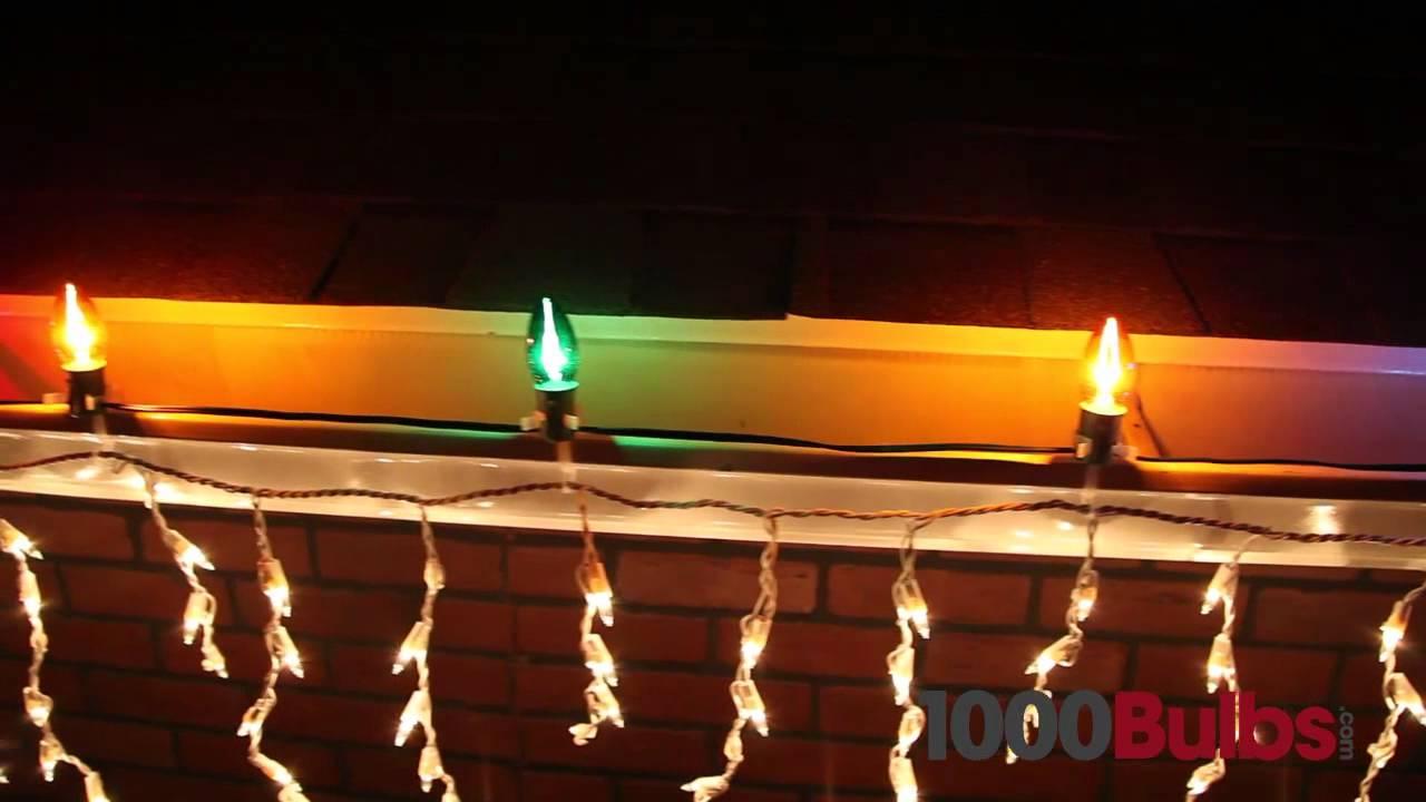 blue led c7 christmas light bulbs