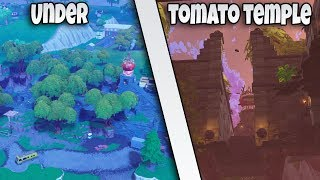 *NEW*HOW TO GET UNDER THE MAP AT TOMATO TEMPLE | FORTNITE BR GLITCH