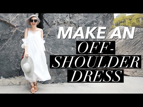 How to Make an Off the Shoulder Dress (or Cold Shoulder?) | WITHWENDY