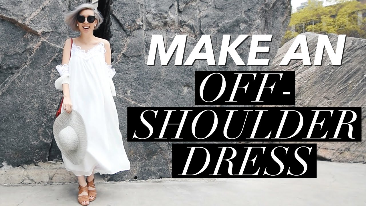 how to make an off the shoulder top