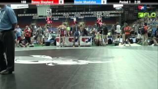 Junior 160 - Danny Shepherd (Utah) vs. Xavier Montalvo (Illinois)
