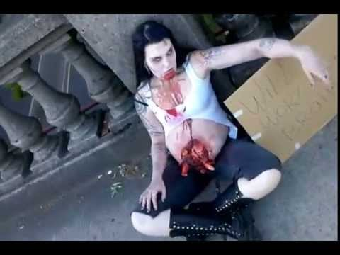 sc 1 st  YouTube & Zombie maternity photoshoot 9 months pregnant Zombie baby - YouTube