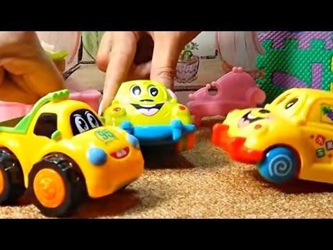 Веселое видео с игрушками: машинки загадывают загадки