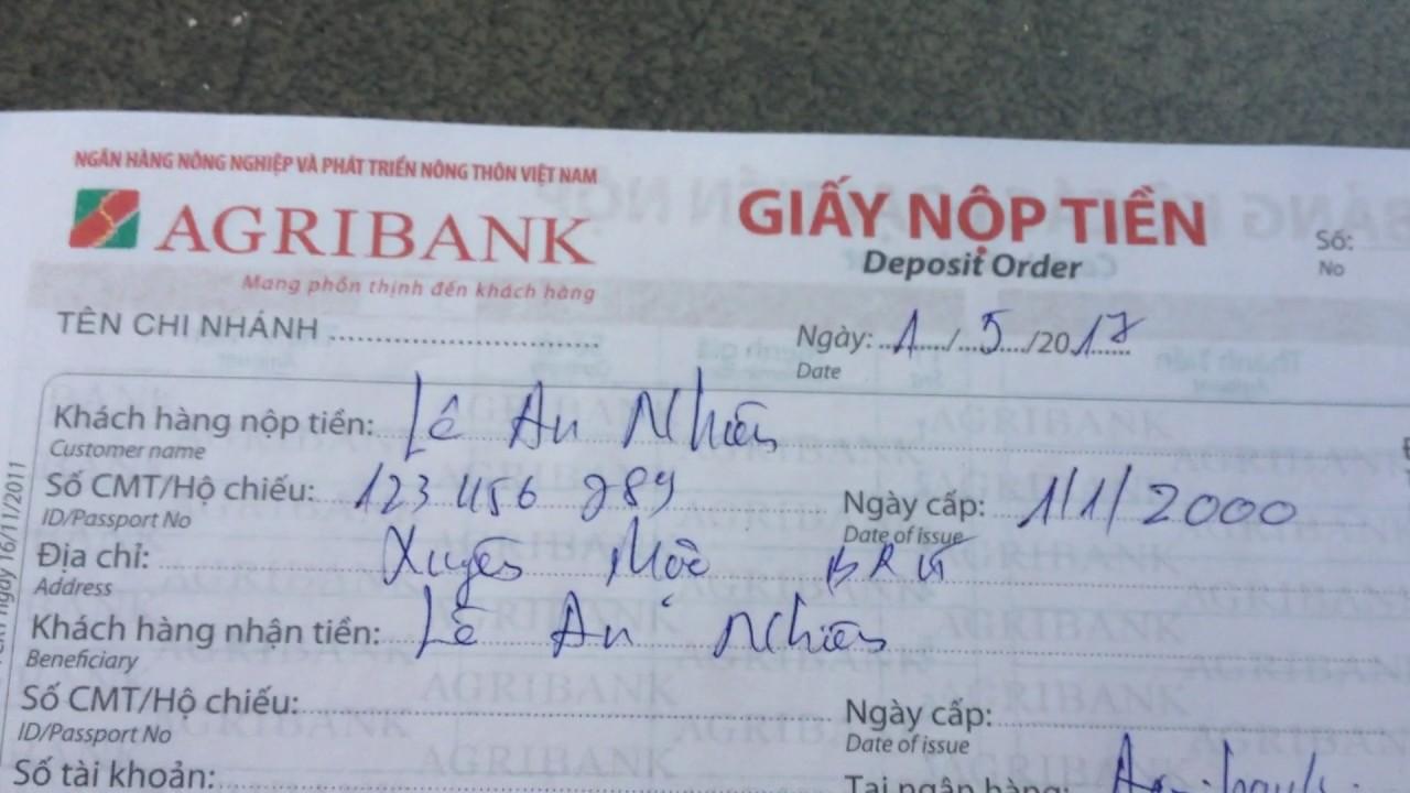 Agribank: hướng dẫn chuyển khoản | nộp tiền tài khoản – thẻ ATM agribank