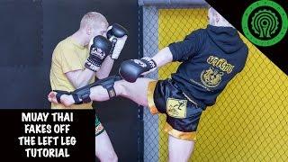 Muay Thai Fakes off the Left Leg Tutorial