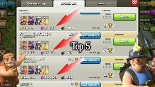 5 attacks In 3 star TH 10 Miner Clash of Clans