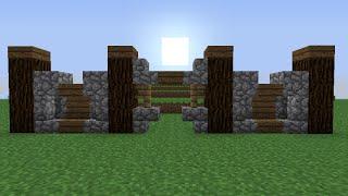 Как построить красивый забор из ели и булыжника в minecraft 1.5.2