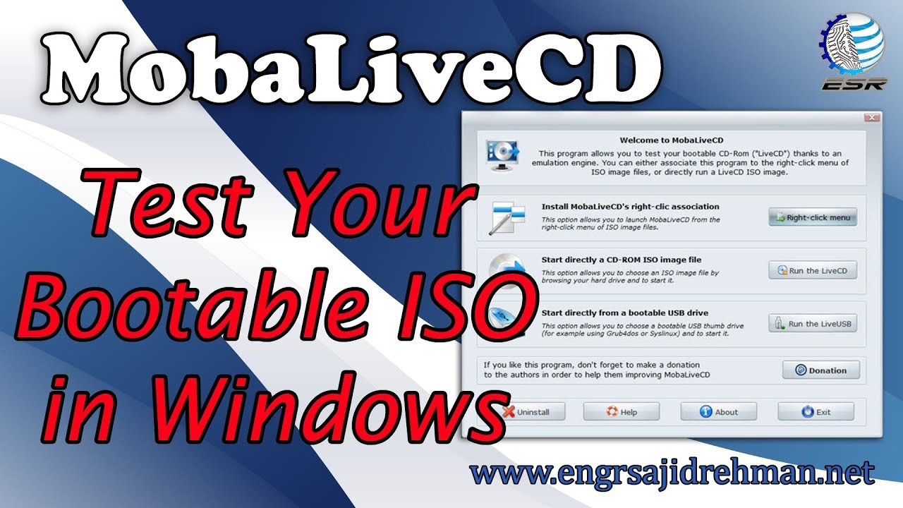 MobaLiveCD Run your LiveCD ISO on Windows