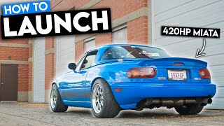 homepage tile video photo for How To Make Your TURBO MIATA Launch HARD & GRIP! (+0-60 times)