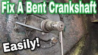 NEW* How To Fix A Bent Crankshaft On An Engine - with Taryl