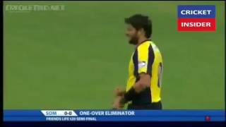Shahid khan afridi super over and county cricket